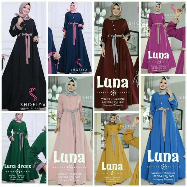 (TERBARU) Luna dress Ori by Shofiya (varian lain)