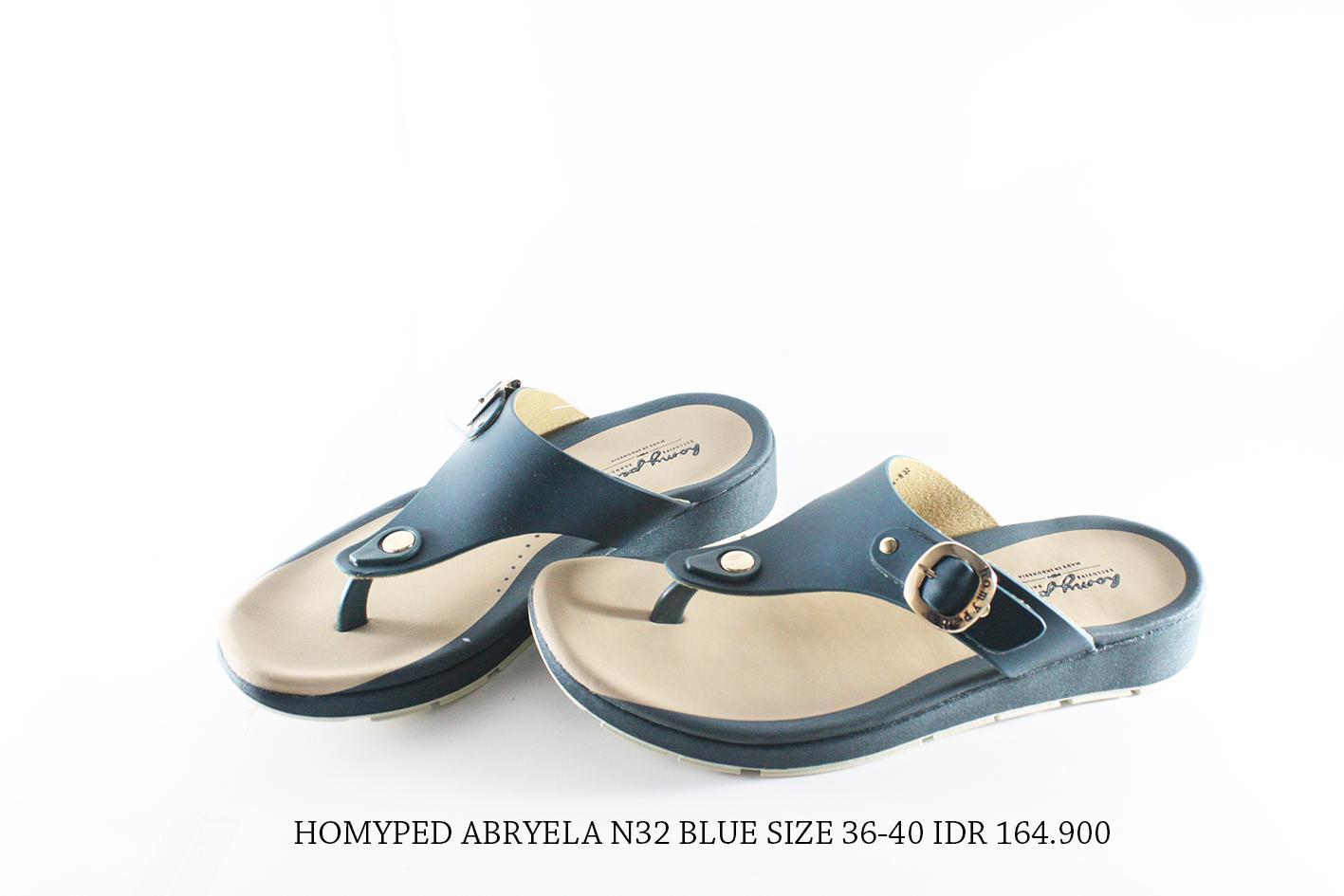 homyped abryela n32 sandal jepit wanita biru