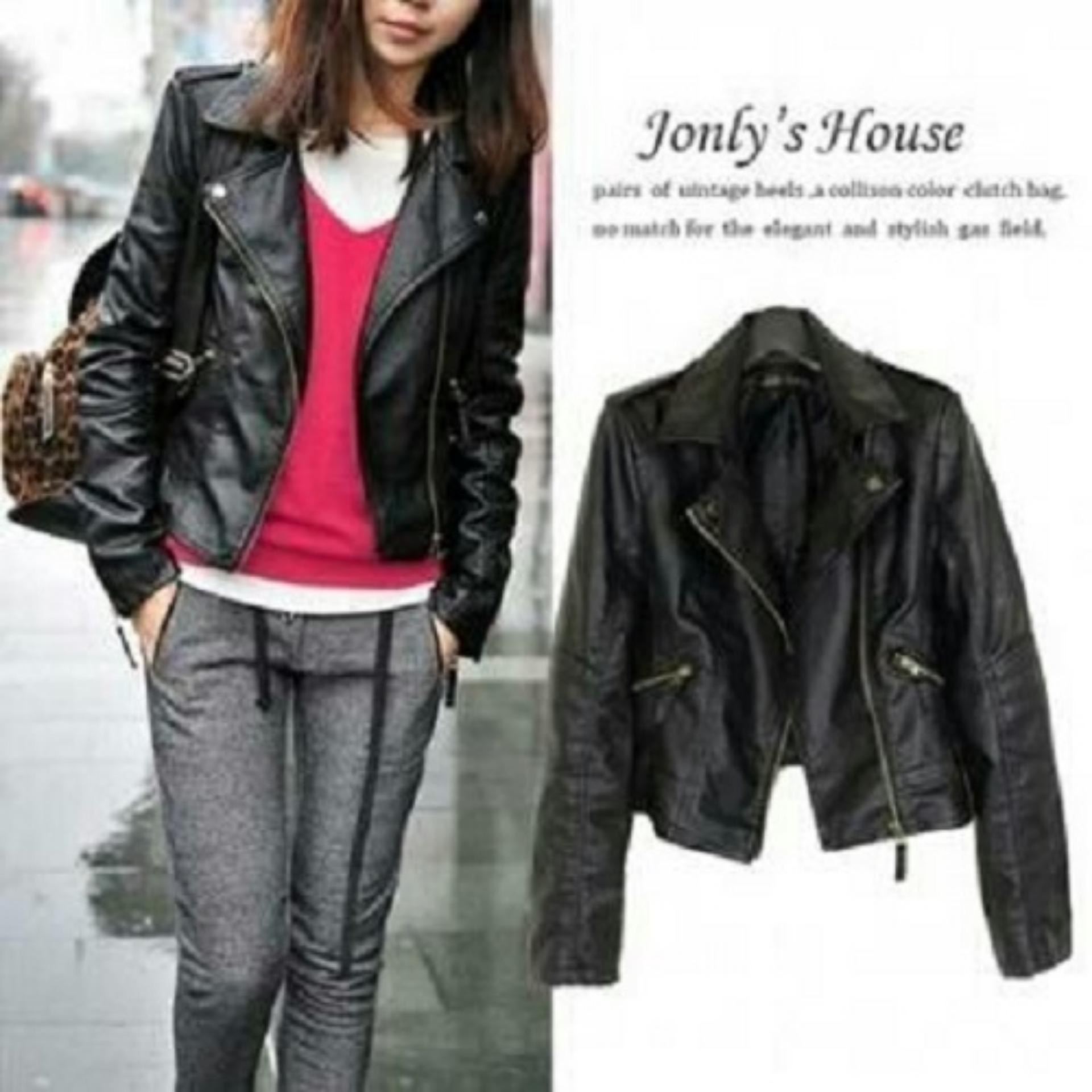 Buy Sell Cheapest Klikfashions Jaket Kulit Best Quality Product Pria David Black Trendshopee Pakaian Wanita Jonfy
