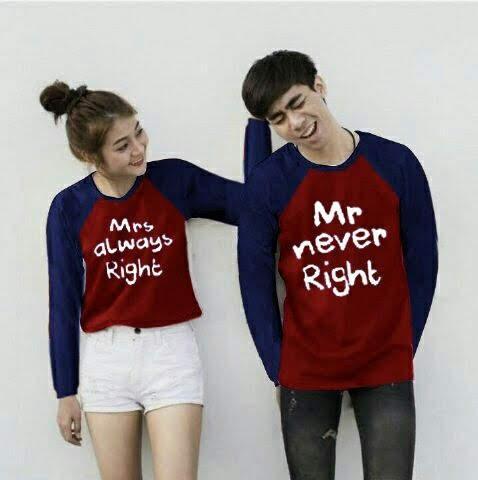 T-Shirt Couple Terbaru/ Baju Kaos Couple/ Good Quality/ CP Mr and