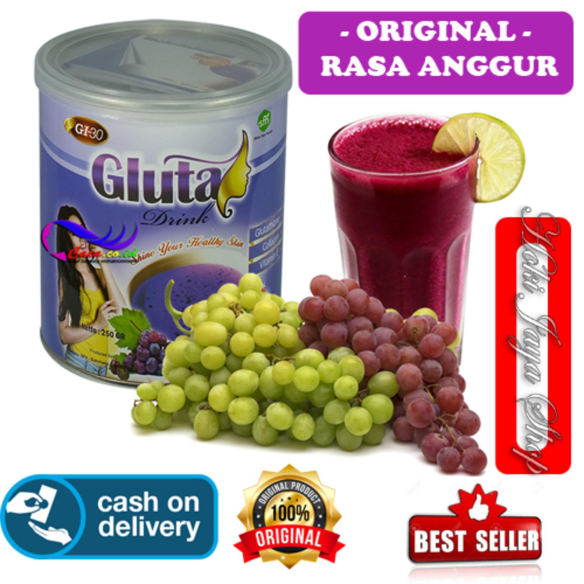HOKI COD - Gluta Drink Original Anggur / Susu Gluta / Suplemen Kolagen / Suplemen Pemutih Kulit / Suplemen Pemutih Badan / Suplemen Antioksidan