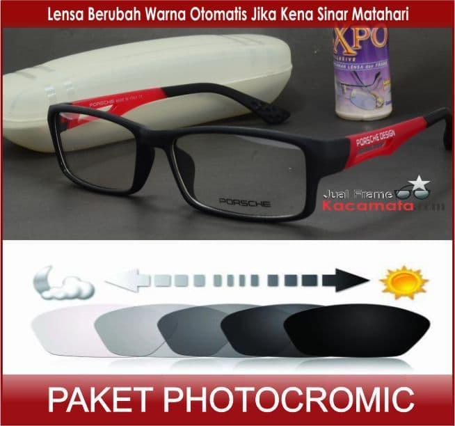 Kacamata Photocromic 837 + Lensa Minus Baca Anti Radiasi Komputer- Frame  Kacamata Gaya Pria Wanita ad78c15d06