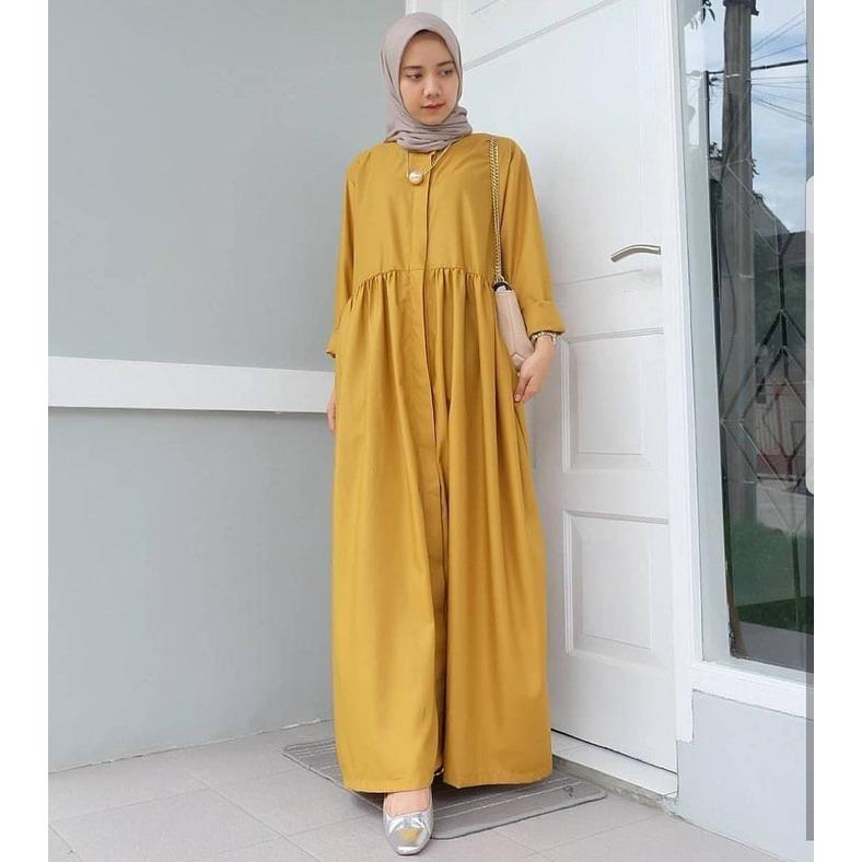 Baju Murah/Jual Dress Murah/Terbaru/ALARA DRESS MUSTARD VG001