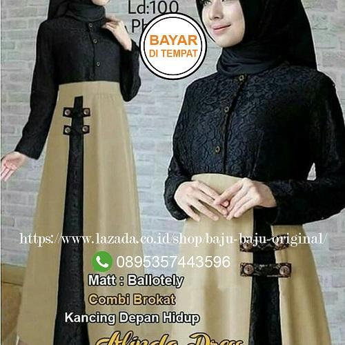 Baju Original Gamis Alinda Dress Balotelly Mix Bukat Baju Wanita Gamis Casual Baju Terusan Panjang Baju Kerja Gaun Pesta Murah Remaja Baju Muslim Terbaru ...