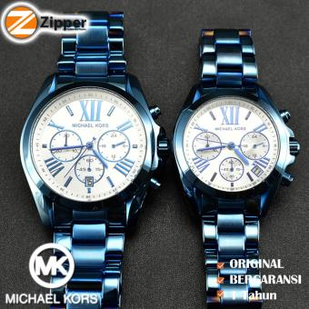 Price Checker Michael Kors Jam Tangan Couple Wanita Pria Couple Michael Kors MK6488 Tali Rantai Logam