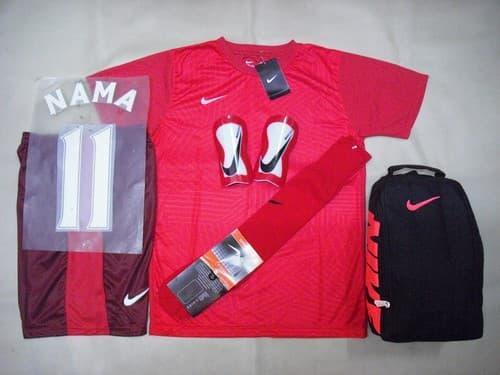 Sedang Diskon!! Paket Super Komplit Baju Futsal Bola Nike Printing Gato - ready stock