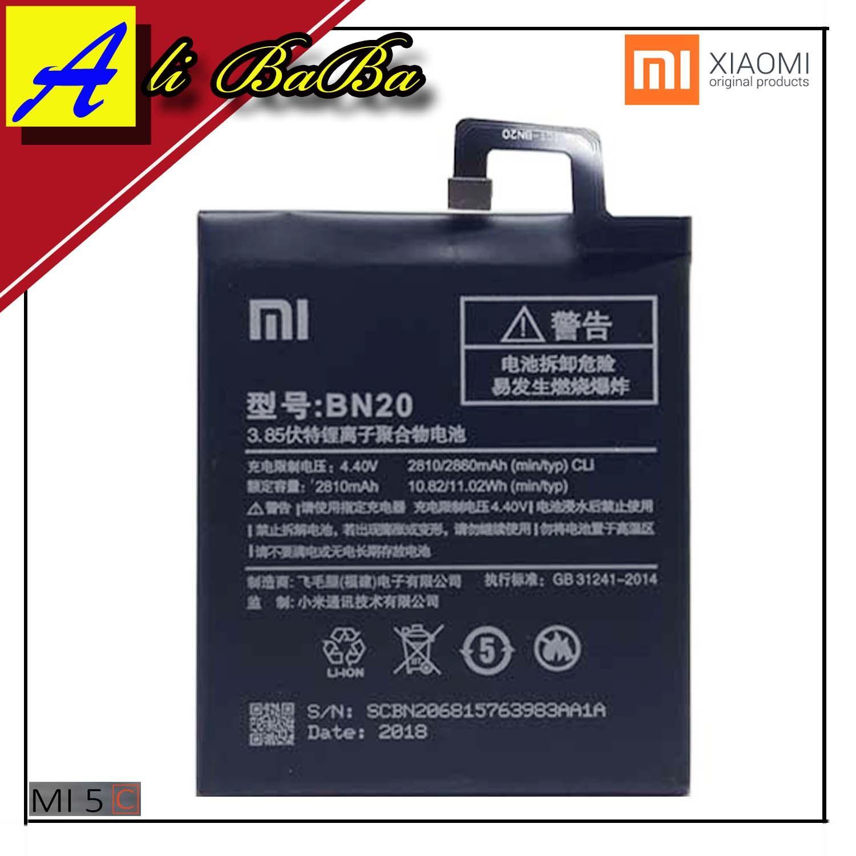 Baterai Handphone Xiaomi Mi 5C Mi5c BN20 Batre HP Xiaomi MI 5C Battery