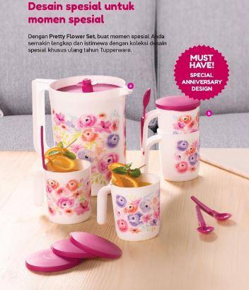 Tupperware Flower Drink Set- 9pcs/set