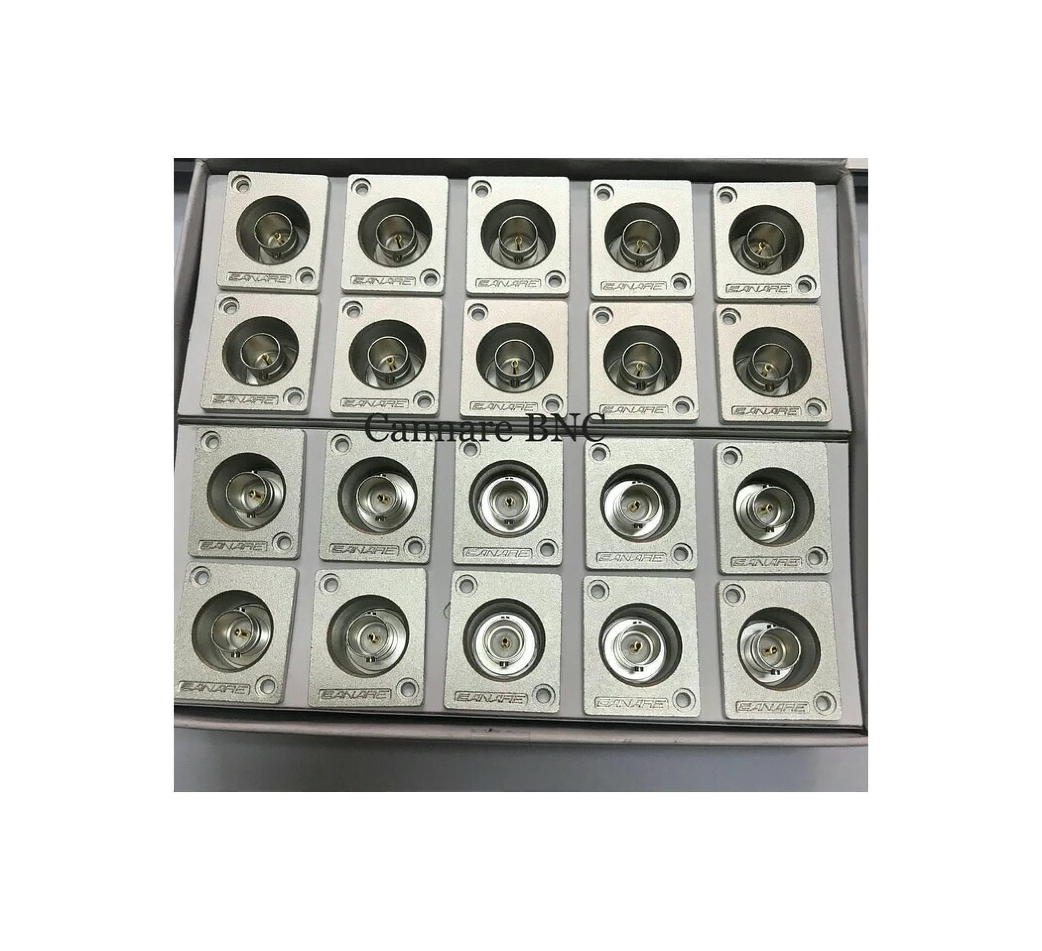 Jual Konektor Soket BNC Panel Segi Cannare Original