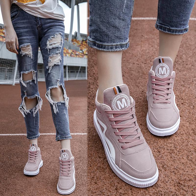 Gaya Korea ulzzang sepatu olahraga perempuan Dongkuan Sepatu Engkel Tinggi  Gaya Harajuku murid netral casual Pemotretan 0352c146cd