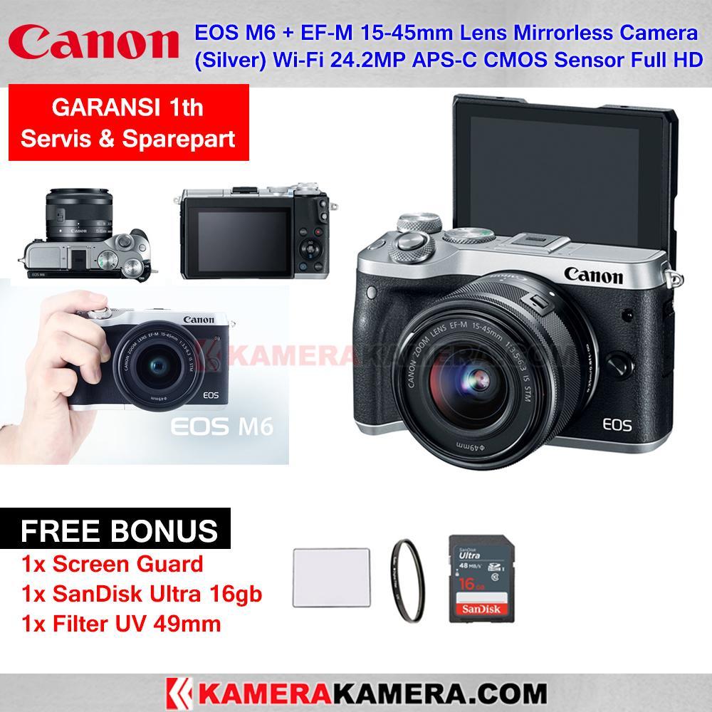 Mirrorless Canon Eos M10 Kit 15 45mm Is Stm 18 Mp Hitam M6 Ef M Lens Camera Wi Fi 24mp