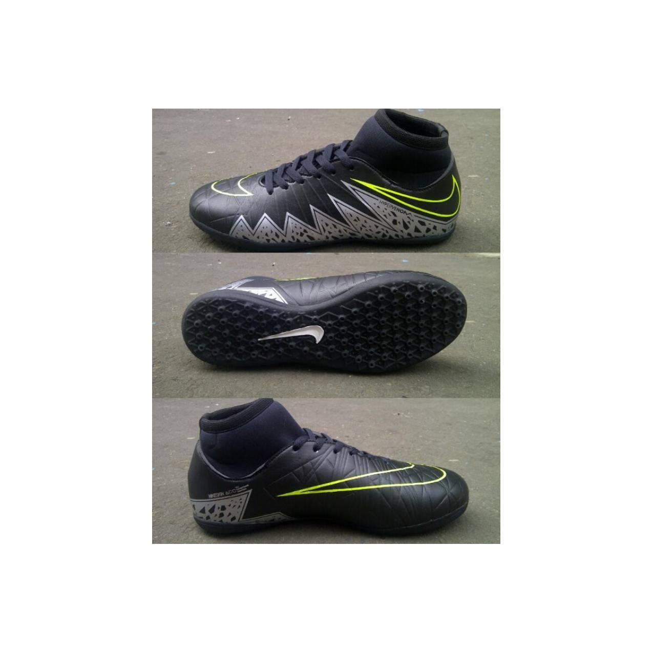 Sepatu Futsal Nike Hypervenom Hitam - KW Super