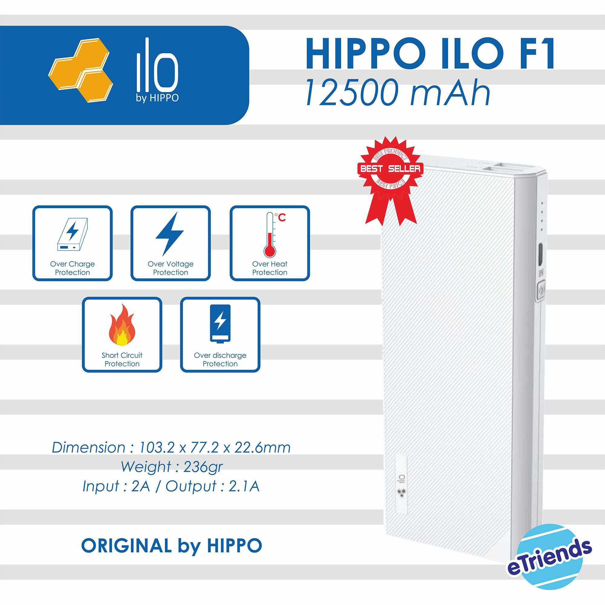 Harga Jual Hippo Power Bank Smore 24000mah Simple Pack White Black Powerbank Ilo F1 12500 Mah Original Putih