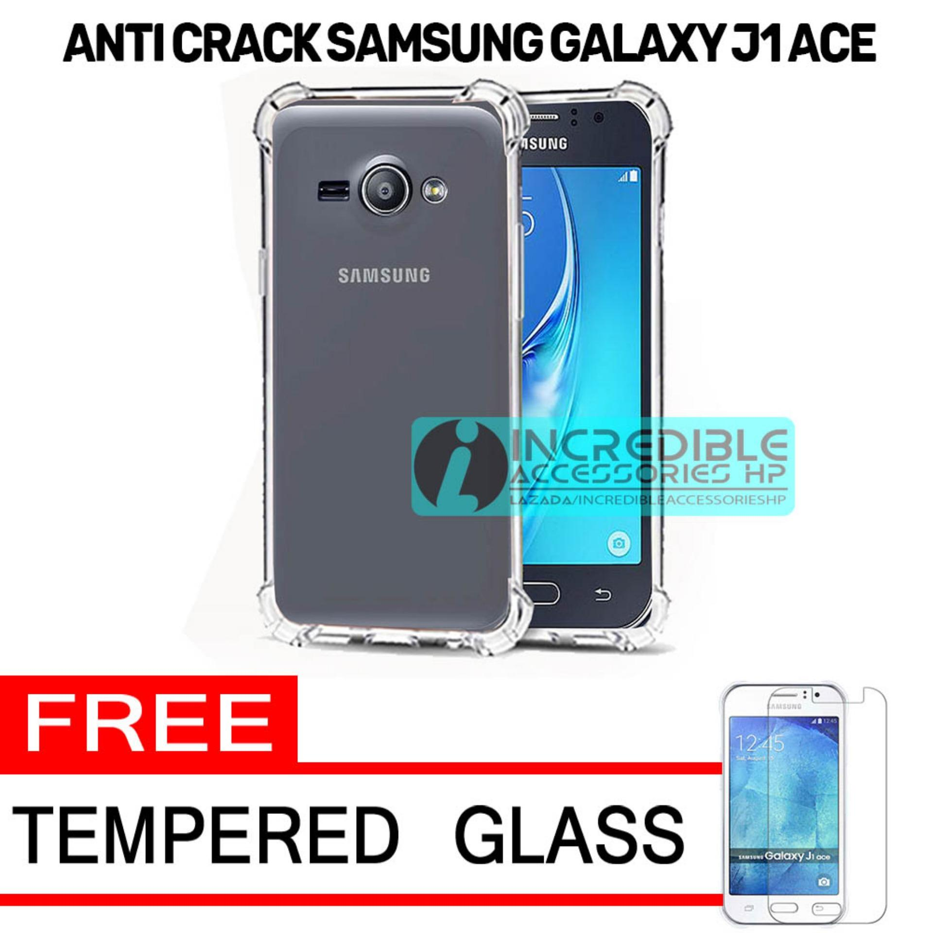 Softcase Silicon Anti Shock / Anti Crack Elegant Softcase  for Samsung Galaxy J1 Ace - White Clear