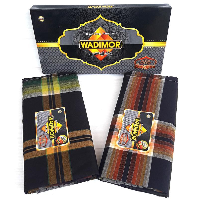 Wadimor Sarung Tenun Motif Nangroe Random 1 Pc  Kain Sarong Muslim Pria Dewasa Perlengkapan Ibadah Sholat Jum'at Ied Hari Raya Pengajian Corak Masa Kini Fashionable Man Fashion