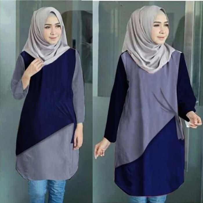 Baju Atasan Wanita Aera Tunik Blouse Baju Muslim Blus muslim 4a9c3da35c