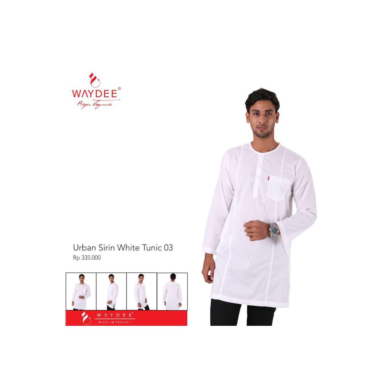 baju koko tunik tangan panjang Urban Sirin White Tunic 03