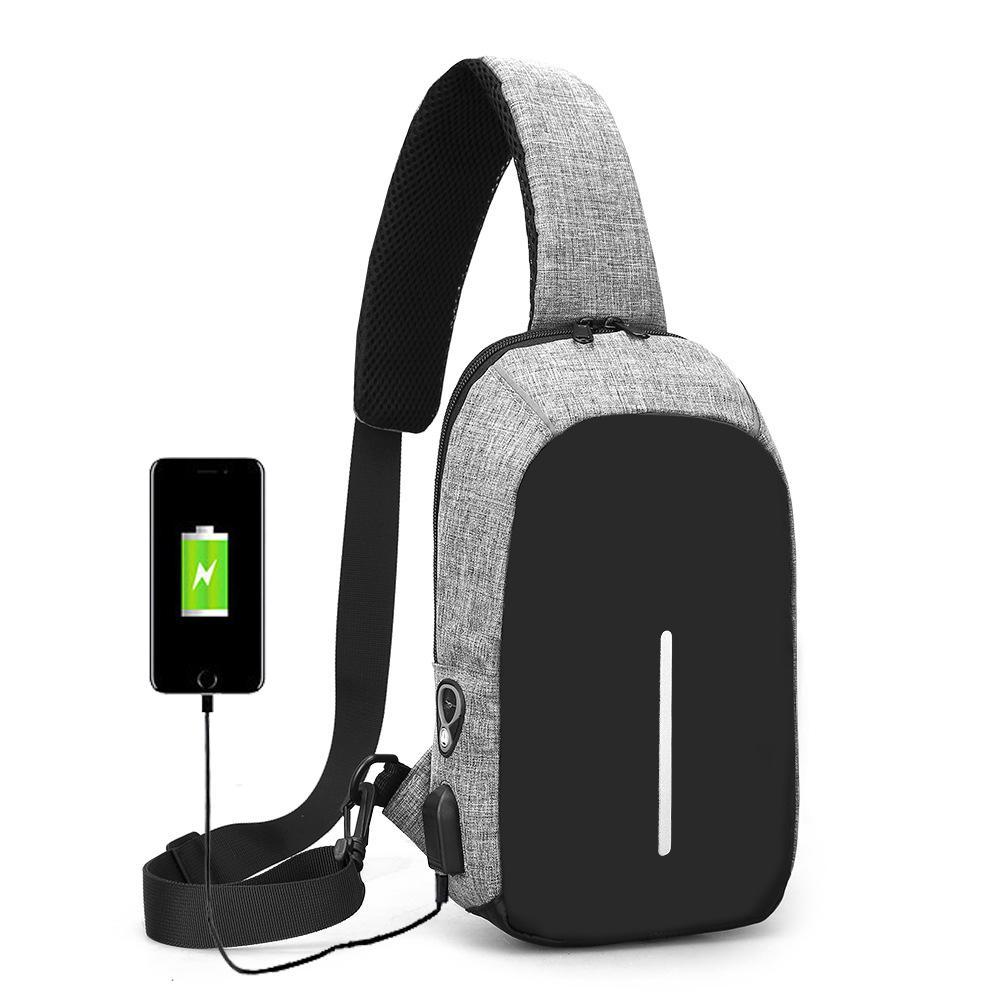 Tas Selempang /Slempang Anti Maling/Anti Air Sling Bag/Tas dada + USB Charger