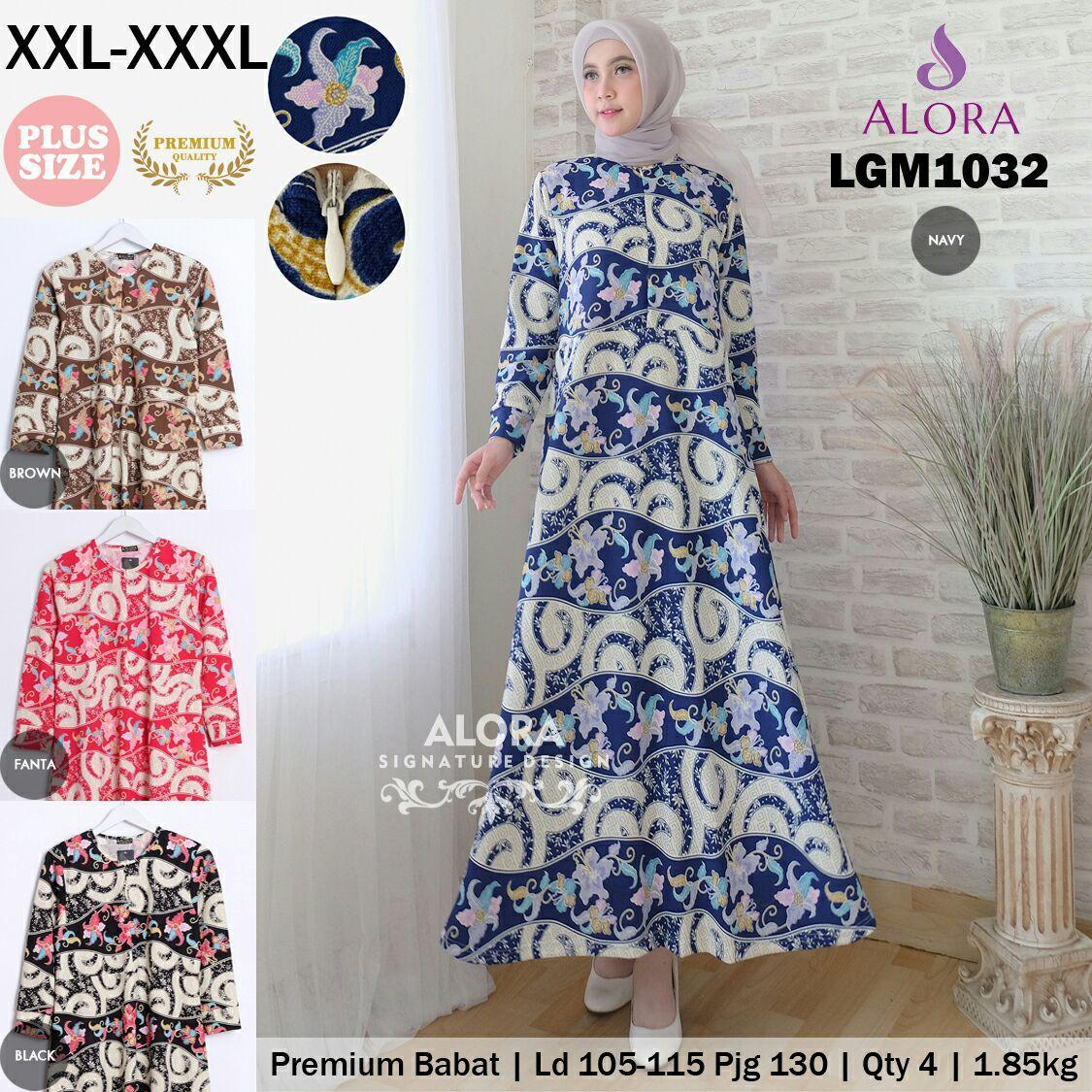 RATU SHOPPING Gamis motif lgm1032 jumbo baju muslim XXL XXXL Promo ramadhan cantik baju lebaran murah