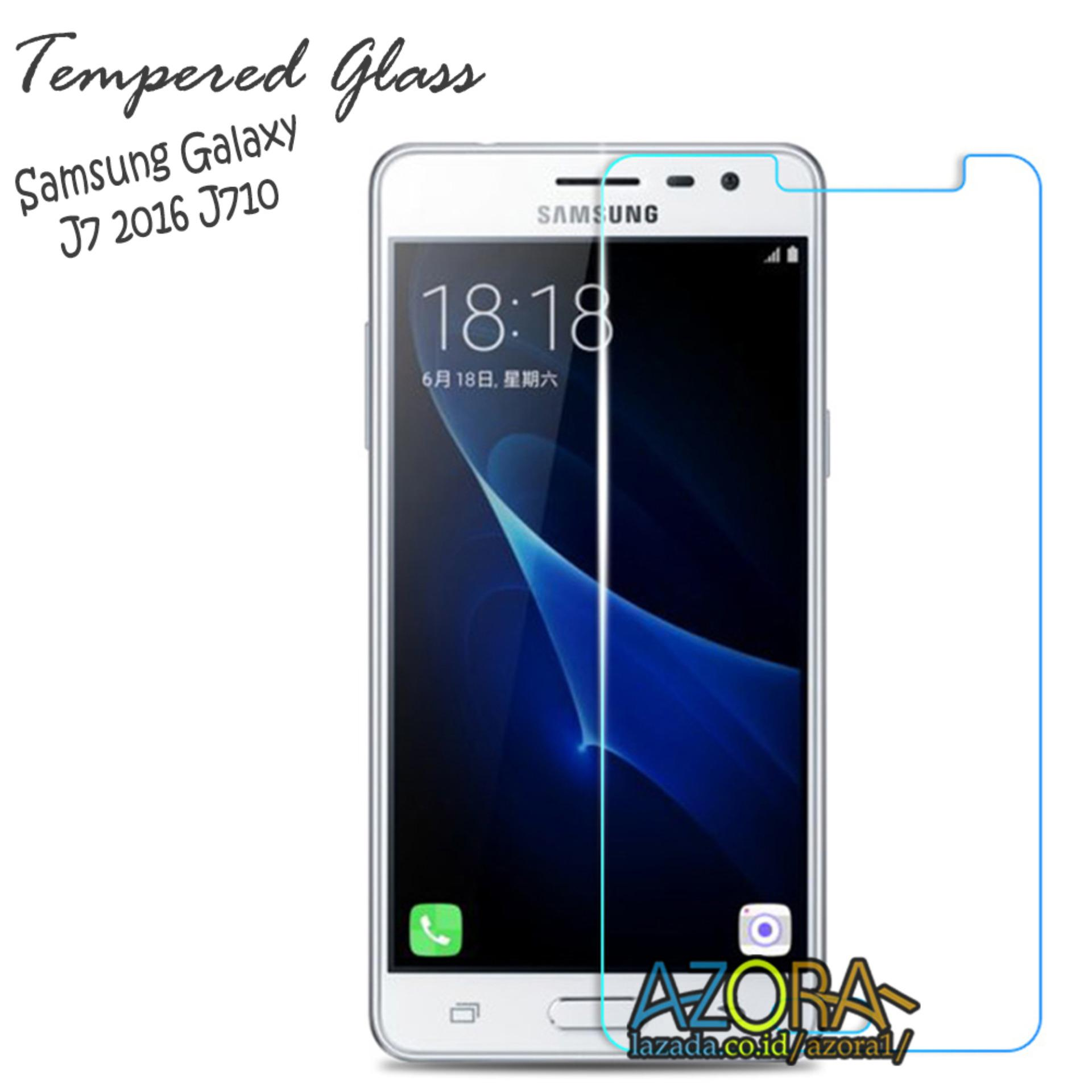 Tempered Glass Samsung Galaxy J7 2016 J710 Screen Protector Pelindung Layar Kaca Anti Gores - Bening
