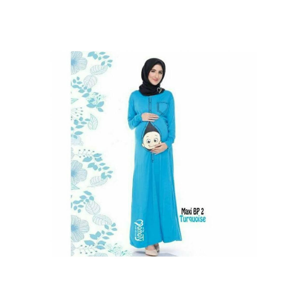 Eksklusif!! Baju ibu hamil model maxi dress BP2/ gamis / long Limited
