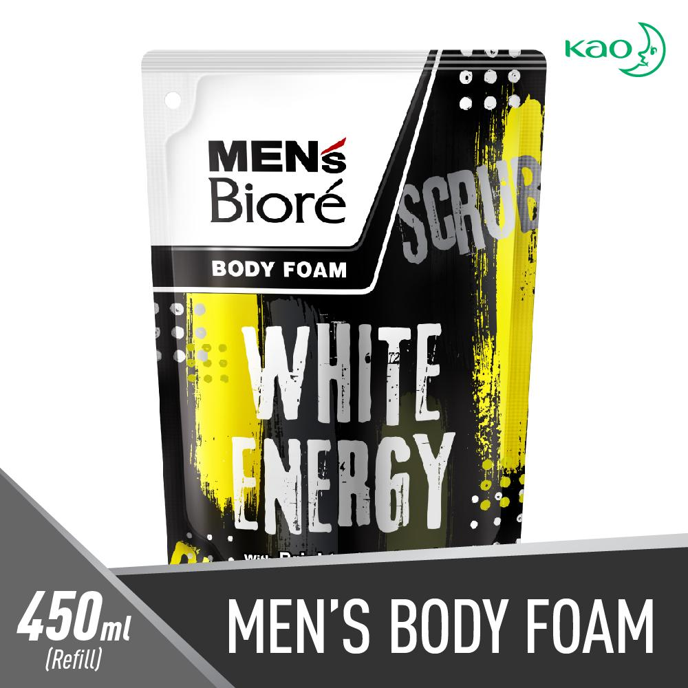 Mens Biore White Energy Body Foam - 450 Ml By Lazada Retail Biore.