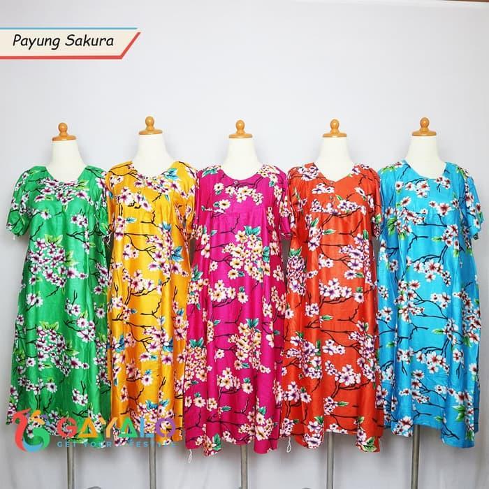 Dress Hamil Baju Daster Payung Sakura/Baju Santai/Baju Hamil/Daster Kl