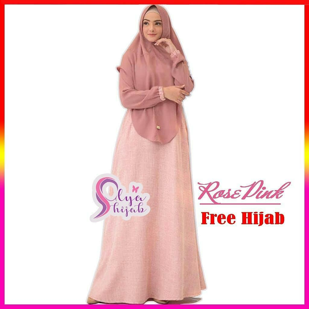 Harga Jual Gamis Murah Harnis Syari 140000 Hijab Janela Hijablana Aulia Tunik Atasan Original Baju Muslim Mawar Wolfice Dress Khimar Busui Wanita Panjang