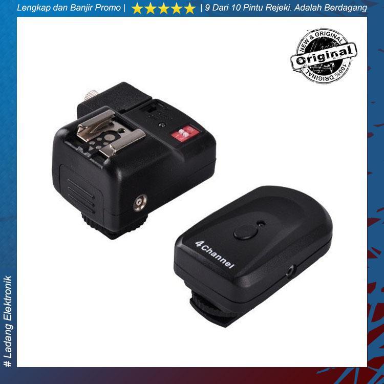 PT-04NE / PT04NE / PT 04NE Wireless Flash Trigger Fullset for Canon/Nikon - Hitam
