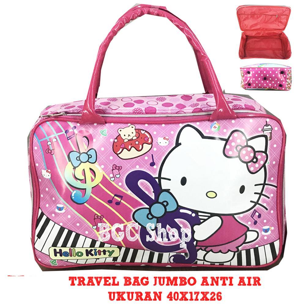 Special Hanya DI Lazada BGC Tas Travel Bag Anti Air Bahan Tebal Frozen Pony Mickey Minnie Avenger Spiderman Captain Cars Tsum Robocar Hello Kitty JUMBO - Full Motif ( VARIASI )