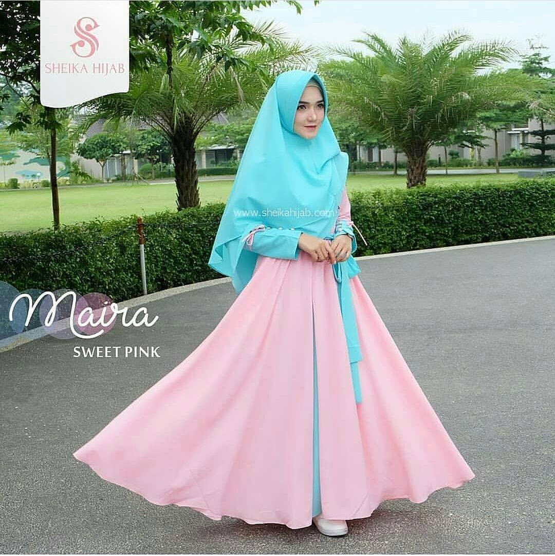 Baju Original Gamis Maira Syari Dress Wolfice Fashion Wanita Muslim Baju Terusan Panjang Hijab Syar'I Modern Pakaian Muslimah Pakaian Casual Gaun Lucu Modis Trendy Baju Model Terbaru