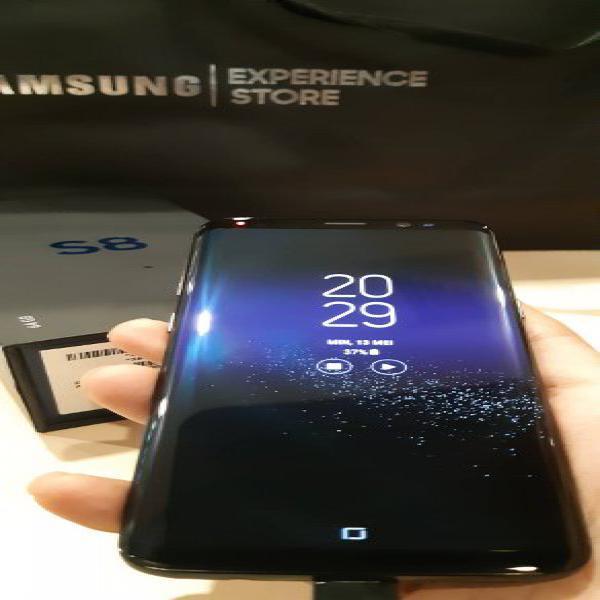Murahhh Samsung Galaxy S8 Black Sein Pembelian Februari 2018 Mulusss Like New Fullset Jos