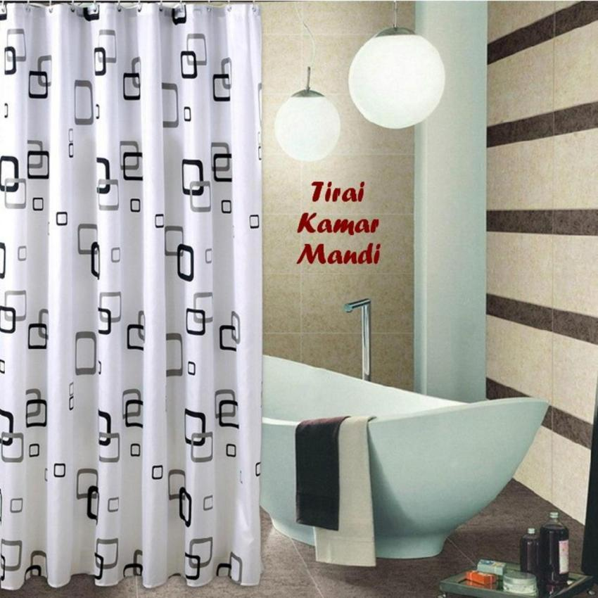 TIRAI KAMAR MANDI MOTIF ANTI AIR / Shower Curtain - RANDOM