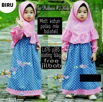 Price Checker Honeyclothing Dress Muslim Anak Polcu   Baju Hijab Anak  Perempuan   Gamis Anak Cewek 9ffe85f0b6