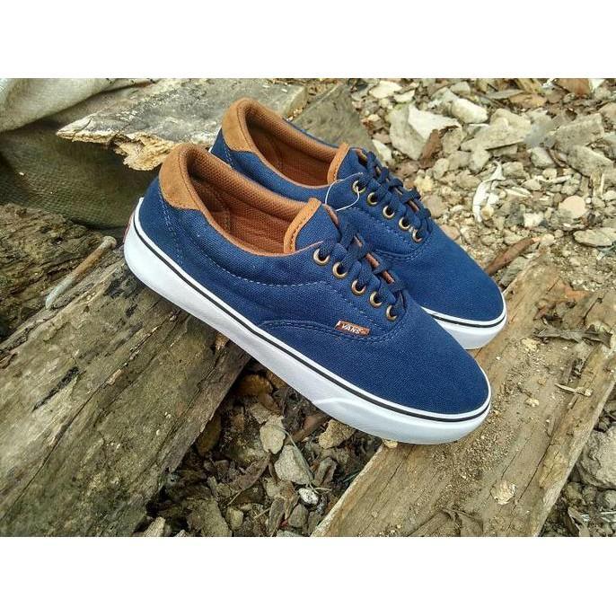 Sepatu Vans California Blue Navy Grade Ori - T5ap2i
