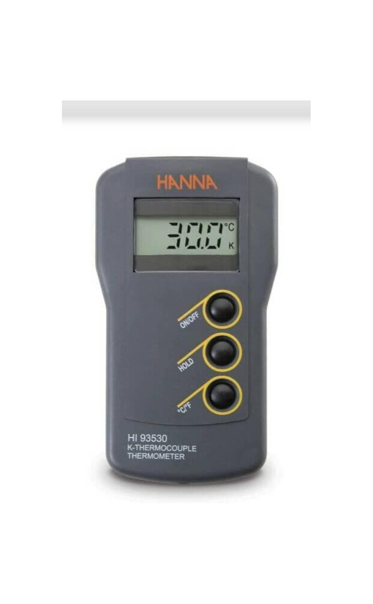 HANNA HI 93530 K-Type Thermocouple Thermometer w/Probe HI 766E2