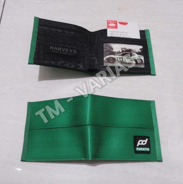 Diskon 10%!! Dompet Takata Jdm Fd Harveys Hijau Takata Wallet Import - ready stock