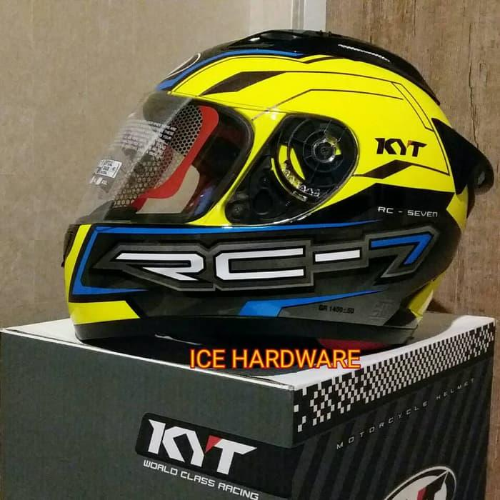 KYT RC SEVEN 7 Yellow Fluo - Helm Motor Full Face Murah Original