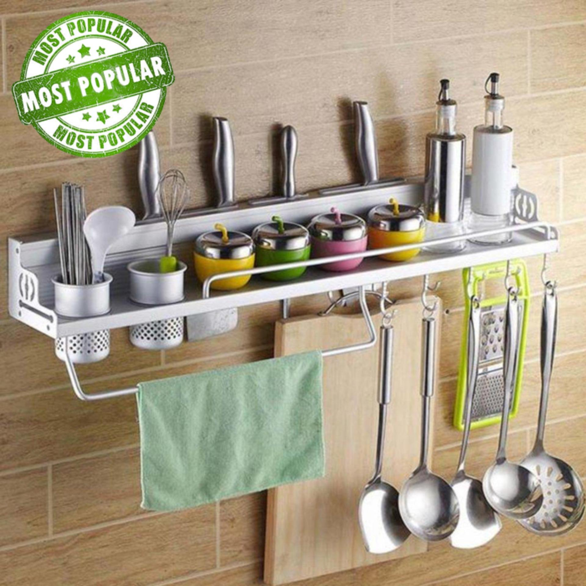 Family Choice Rak Dinding Dapur Aluminium Berkualitas Size 60x12,5x10cm