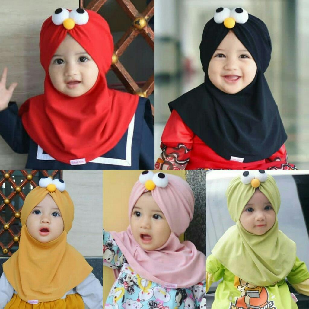 Kerudung Anak Bayi elmo / Jilbab Anak Bayi / Jilbab Bayi / Hijab Pashmina Instan Anak