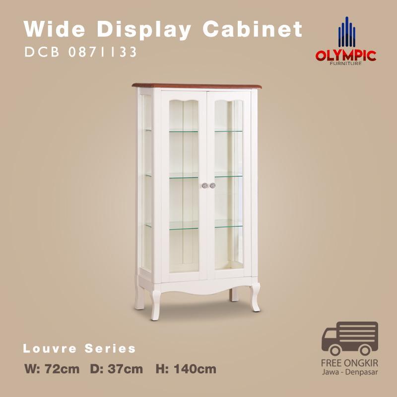 Olympic Louvre Series Didplay Cabinet Big Lemari Kaca Pajangan European Style - DCB 0871133
