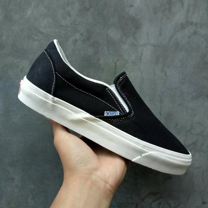 ORIGINAL!!! Sepatu Vans Slip On Og Black White Lx Ehc Premium Bnib