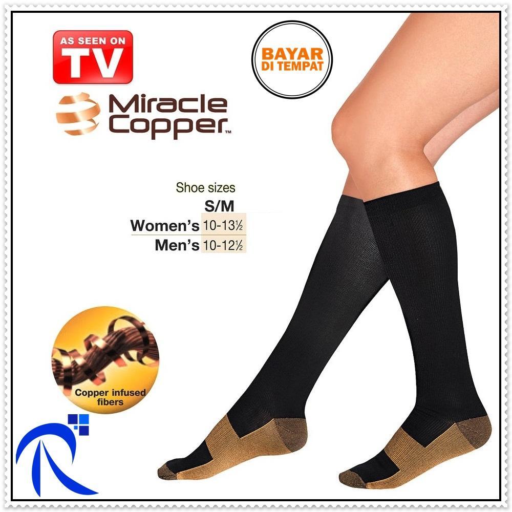 RIMAS Miracle Copper Socks Stovepipe Healthy S/M Size / Kaos Kaki Kesehatan - Black Alat pembungkus