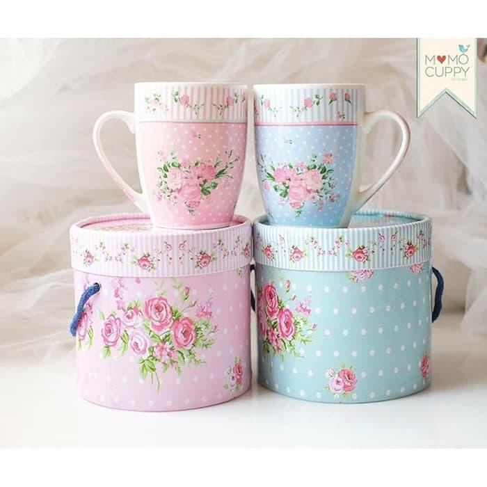 Mug Kotak Shabby Chic Pastel ( Mug Box Shabby Chic Pink And
