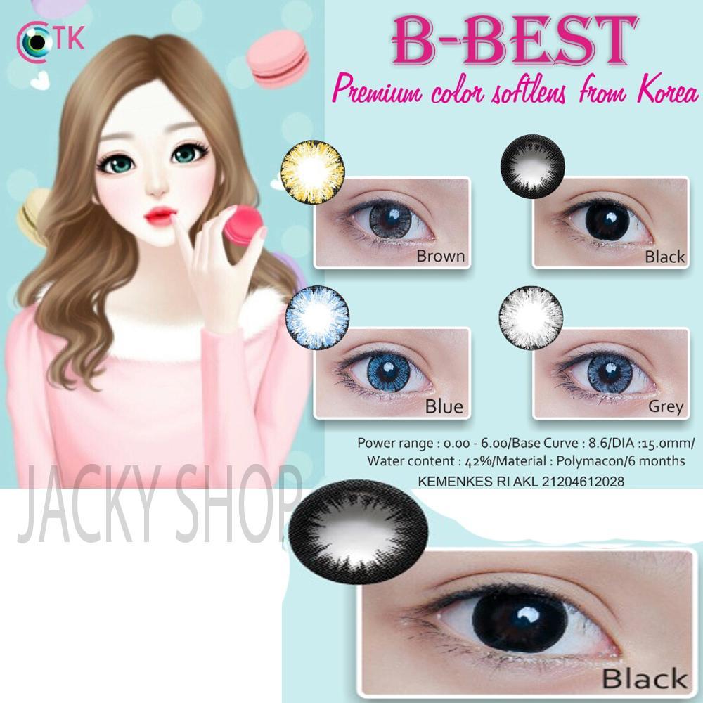B-Best Softlens - Black + GRATIS Lenscase