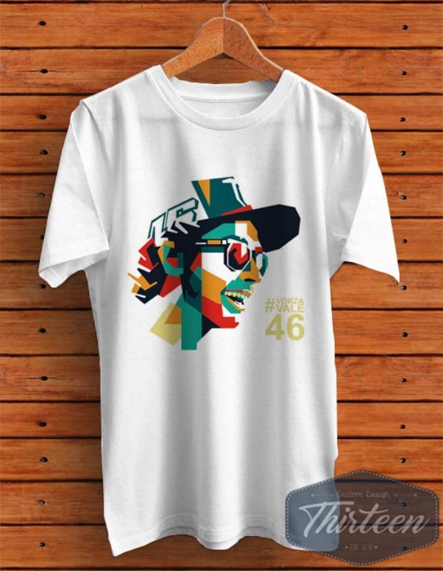 Kaos Original Baju MotoGP WPAP Valentino Rossi Kualitas Distro - Putih