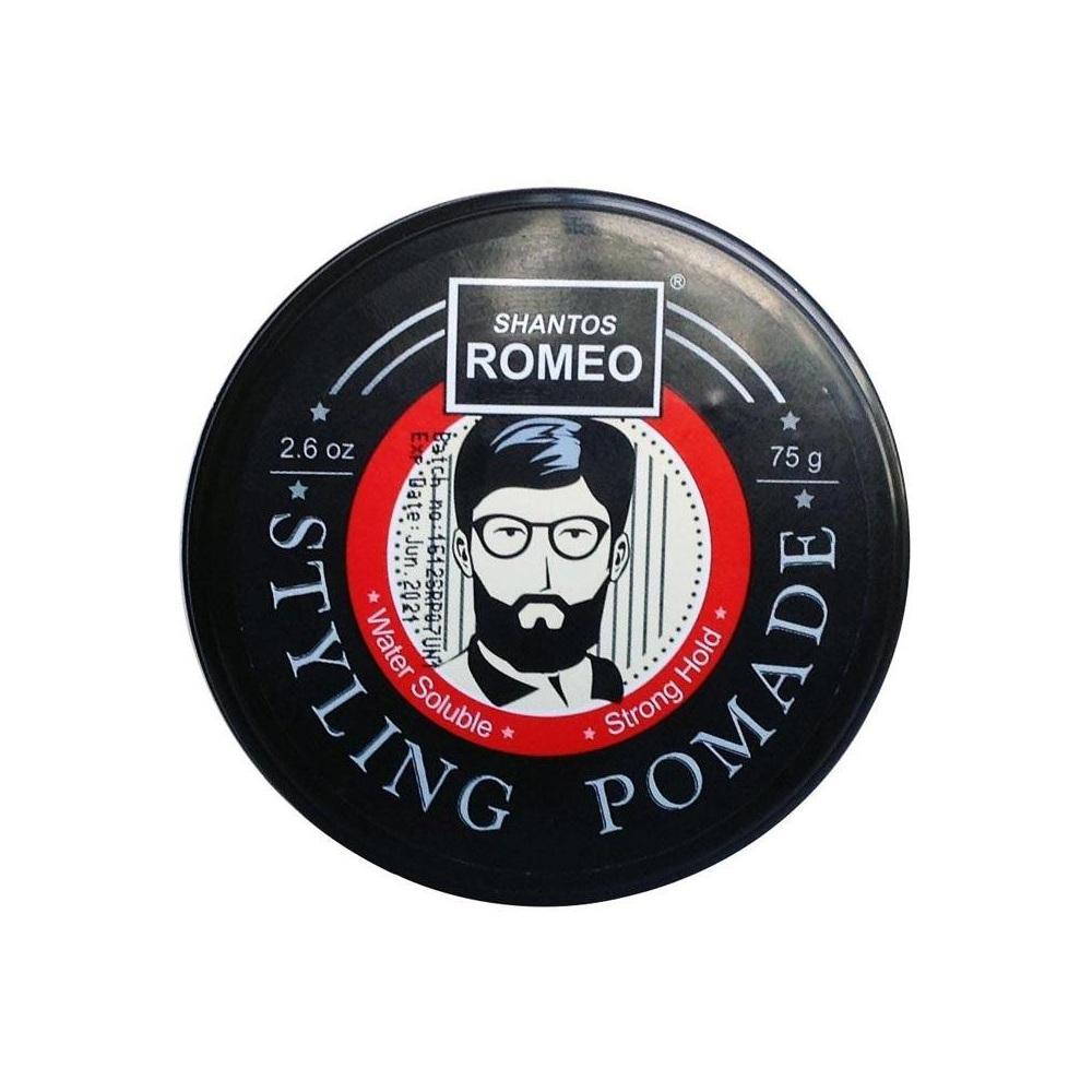 Pomade Shantos Romeo Styling - Waterbased / Water Based - Free Sisir Saku - Hair Wax - Minyak Rambut