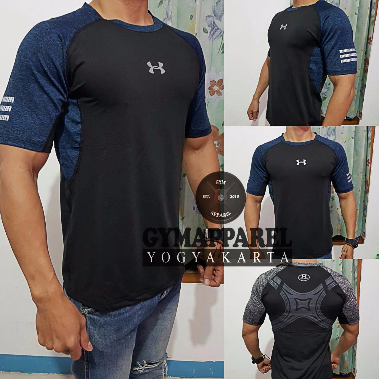 Produk Under Armour Terbaik Charged Cotton Tshirt Kaos Size S Olahraga Fitness Graphic Commbine Misty Gym Run Sepeda Training Golf Tennis Dri Fit
