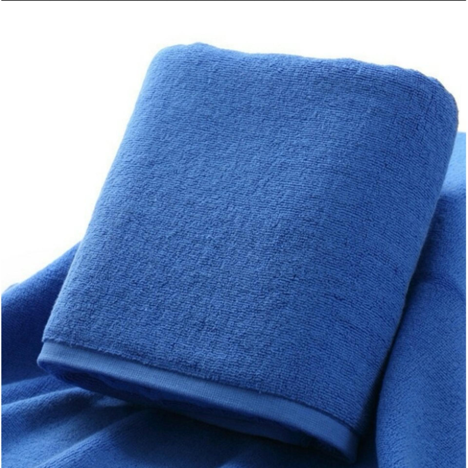 Bath Towel Dark Blue / Handuk Mandi / Renang Biru Tua Hotel Ukuran Besar Full 100% Premium Katun