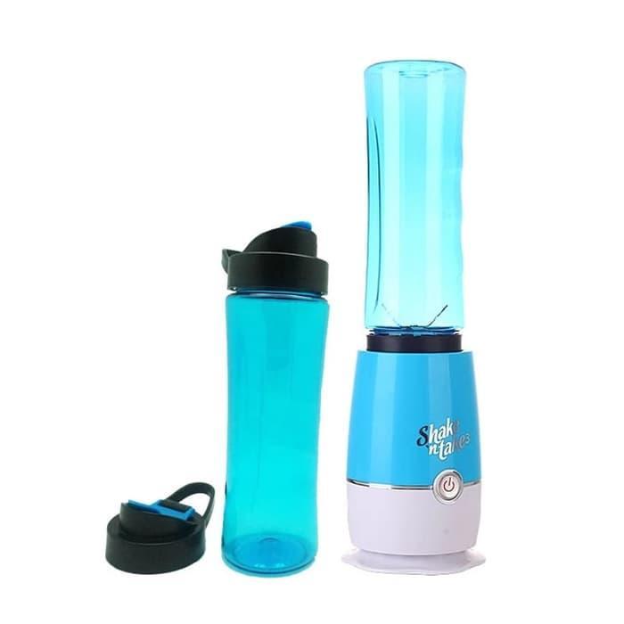 HARGA SPESIAL!!! Blender Gelas 2 Tabung BARU warna BIRU (New shake n take) - sbbw1F
